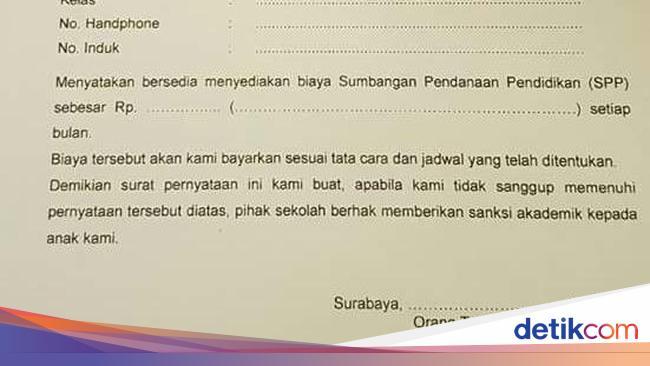 Sumbangan Disertai Sanksi Di Sman 17 Surabaya Ini Jawaban