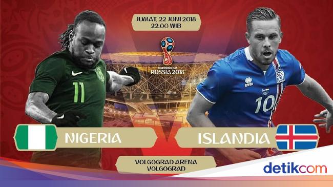 Data dan Fakta Nigeria vs Islandia, Laga yang Ikut ...
