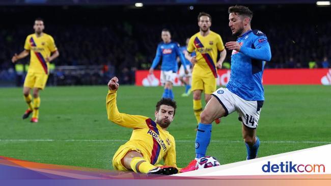 Napoli Vs Barcelona: Messi dkk Tertinggal 0-1 di Babak Pertama