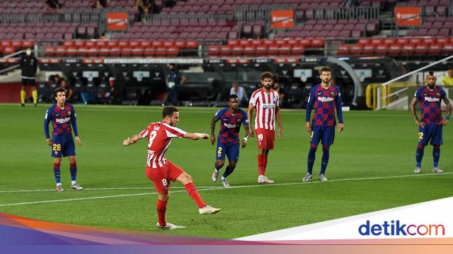 Sengit! Barcelona Vs Atletico Imbang 1-1 di Babak Pertama