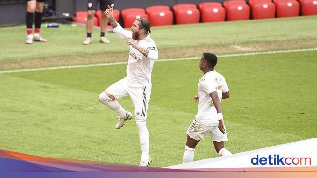Gol Sergio Ramos di Liga Spanyol Sudah Tembus Dua