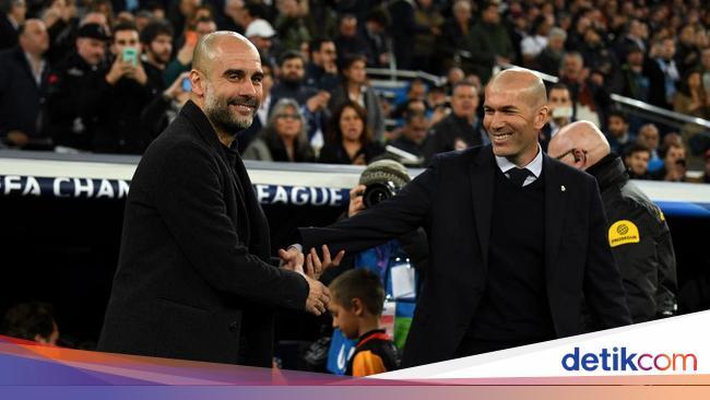 Guardiola Vs Zidane, Duel Pelatih Plontos yang Sam