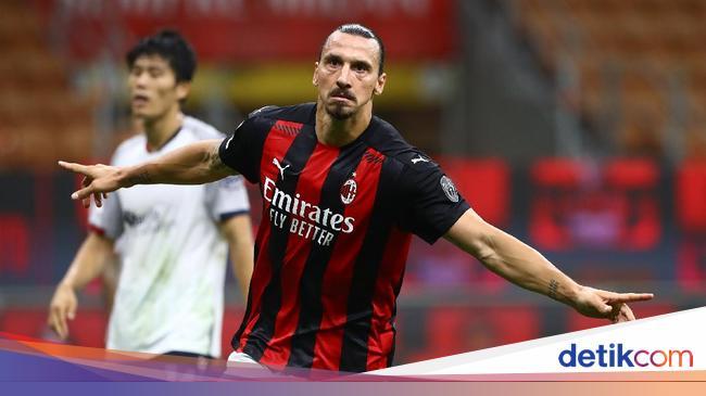Milan Vs Bologna: Dwigol Ibrahimovic Bawa Rossoner