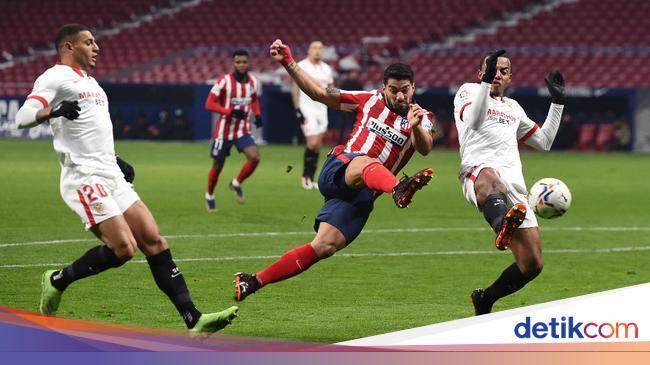Atletico Madrid Vs Sevilla Luis Suarez Dkk Menang 2 0