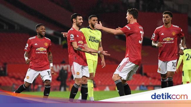 Sepakbola MU Vs Newcastle: Setan Merah Menang 3-1