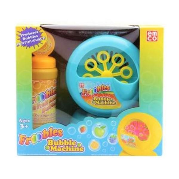 Bermain Bersama Emco Froobles Bubble Machine!   Bermain Gelembung Sabun Di Taman Ataupun Didalam Ruanganpun Bersama Keluarga Menjadi Sangat Menyenangkan Dengan Beberapa Karakter Hewan Yang Lucu.    Hanya Dengan Memasukkan Jari Mungil Tangan Anak Anda Pada Kemasan Yang Menyerupai Sarung Tangan.