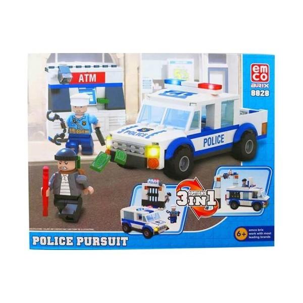 Lego Emco Option 3 In 1 8828 Police Pursuit Dapat Dirakit Menjadi Sebuah Bentuk Mainan Yang Sangat Inovatif Dengan Harga Yang Sesuai Dengan Kualitas, Terjangkau Dan Produk Yang Aman.    Design Sangat Menarik Dan Kualitas Bahan Yang Sangat Cocok Untuk Pilihan Mainan Edukasi.