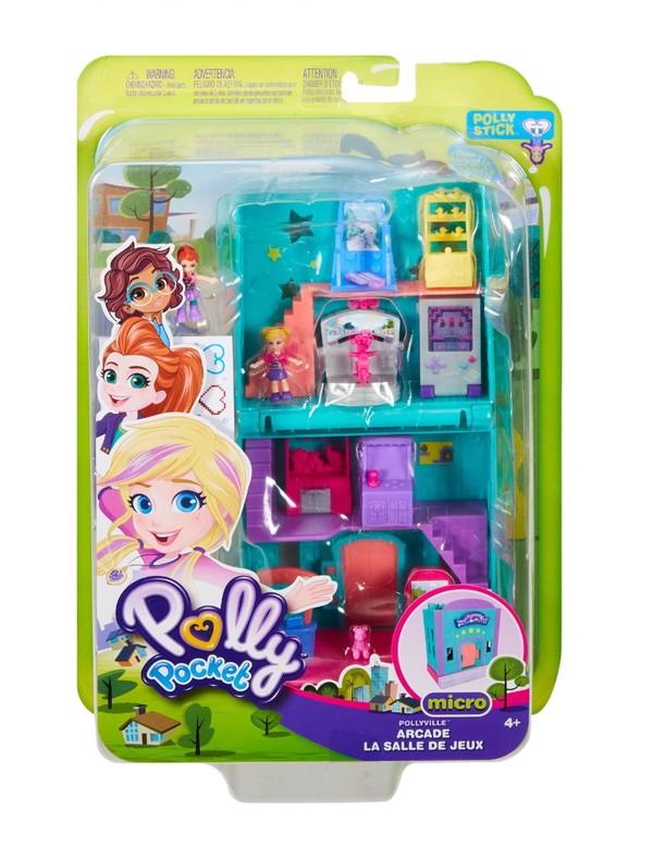 Mainkan Kesenangan Mendongeng Dengan Arcade Pollyville Ini Yang Membuka Ke Area Menyenangkan Dengan Game Yang Bergerak Yang Berinteraksi Dengan Boneka Mikro Polly Dan Lila!