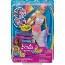 Barbie Dan Crayola - Boneka Barbie Dreamtopia Color Magic Mermaid Memiliki Baju, Ekor, Dan Sirip Untuk Diwarnai Dengan Stick Warna Crayola Yang Dapat Dicuci! - 3 Stik Warna Crayola Merah Muda, Biru Dan Ungu; Gunakan Satu Atau Ketiganya!    Untuk Memulai Tampilan Baru, Gunakan Kain Yang Disertakan (Dengan Cetakan Pelangi) Untuk Menghapus Desain Dan Membuat Lembaran Yang Bersih - Gambar Pola, Desain Unik Atau Grafik Keren Dan Warnai.