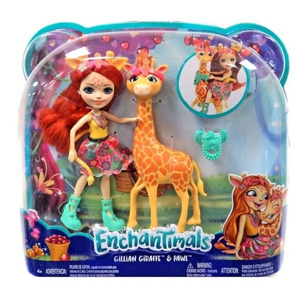 Boneka Enchantimals Adalah Karakter Yang Menyenangkan Yang Berbagi Ikatan Khusus Dengan Teman-Teman Hewan Mereka,    Mereka Selalu Bersama, Dan Mereka Juga Mirip. Boneka Enchantimals Hadir Bersama Teman Yang Imut!    Boneka Enam Inci Itu Mengenakan Pakaian Berwarna-Warni Yang Cocok Dengan Kepribadiannya Yang Penuh Kasih Sayang,    Ia Memiliki Rok Lepasan Yang Memiliki Cetakan Lucu
