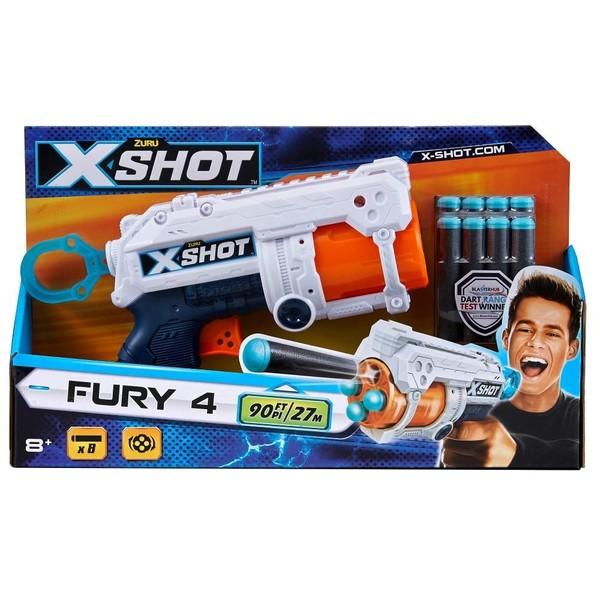 Mainan Pistol X-Shot Fury Untuk Anak-Anak Yang Dilengkapi Dengan Isi Peluru 8 Pcs   Jarak Tembak Nya Mencapai 27 Meter
