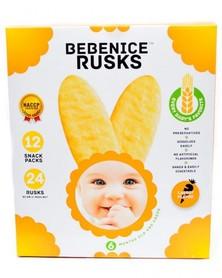 Bebenice Rusks Merupakan Makanan Tambahan Pendamping Asi Sebagai Pelengkap Nutrisi Dimana Kandungan Nutrisi Asi Tidak Lagi Cukup Untuk Memenuhi Kebutuhan Anak Seiring Bertambahnya Usianya.  Makanan Selingan Bayi Ini Dibuat Dengan Tekstur Yang Lembut Untuk