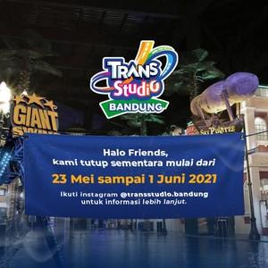 Trans Studio Bandung Tutup Sementara  Periode 23 Mei – 1 Juni 2021