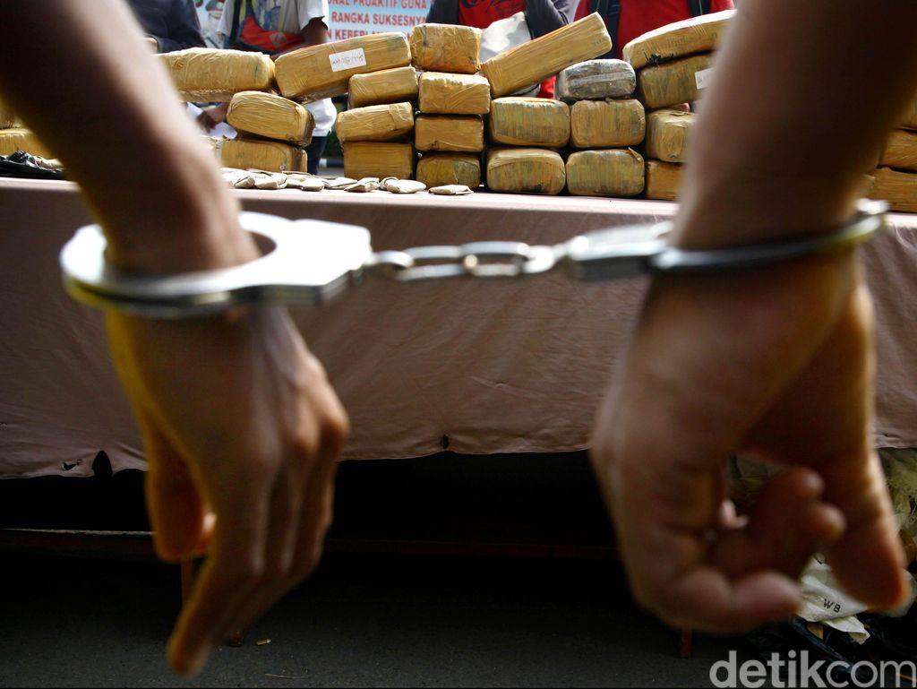 Polres Jaksel Amankan 7 Karung Narkoba Jelang Tahun Baru