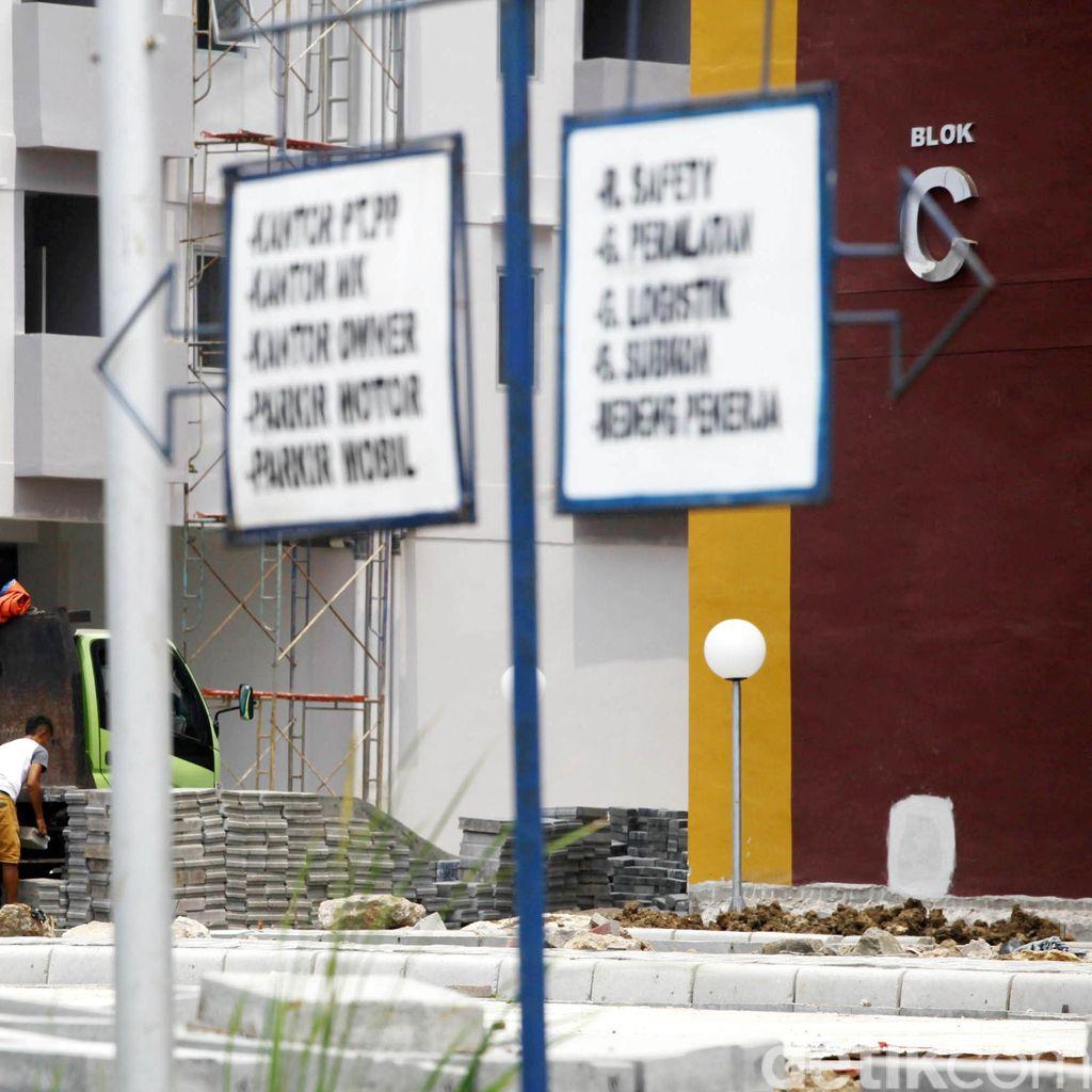 Kejari Jaktim Bersama Wali Kota Cek Pembangunan Kantor Kelurahan Pondok Kopi