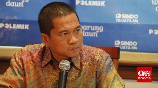 Wakil Sekretaris Jenderal PAN Yandri Susanto di Restoran Warung Daun, Cikini, Jakarta Pusat, Sabtu (11/10).
