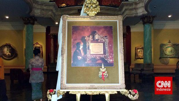 Lukisan potret Antonio Blanco, perupa berdarah Spanyol dan kelahiran Manila, tapi tinggal di Bali dan mencintai Indonesia.