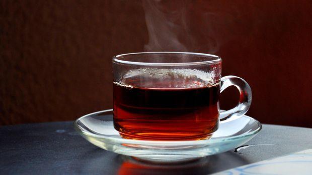 Ilustrasi teh panas