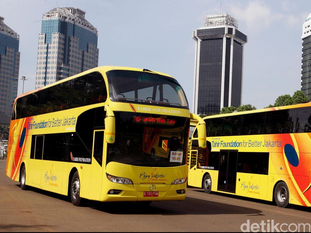 5 Bus Tingkat Wisata Mercy dari Tahir Foundation Tiba di Jakarta