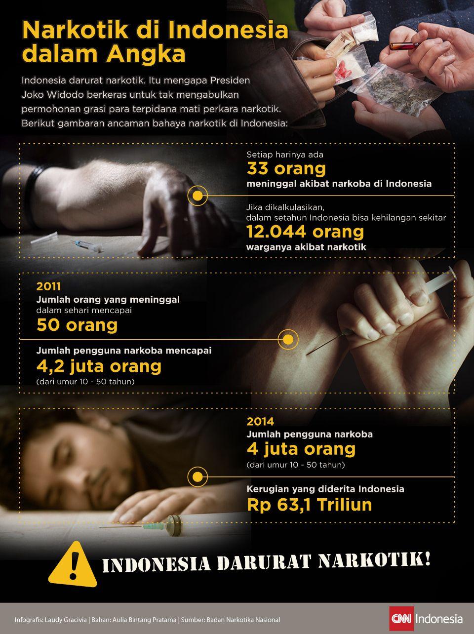 Infografis Narkotik di Indonesia dalam Angka
