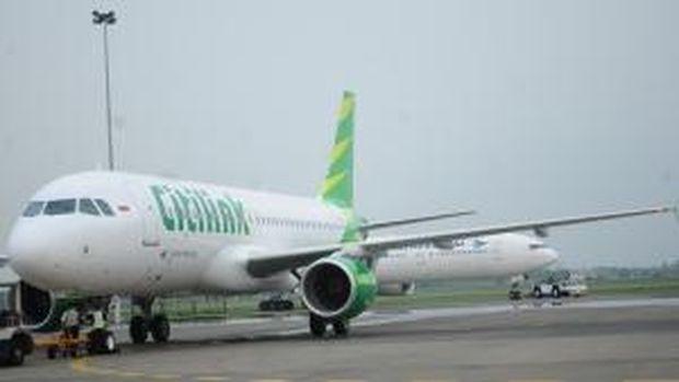 Pesawat Citilink beroperasi dari berbagai bandara di Indonesia. (Dok. Citilink)