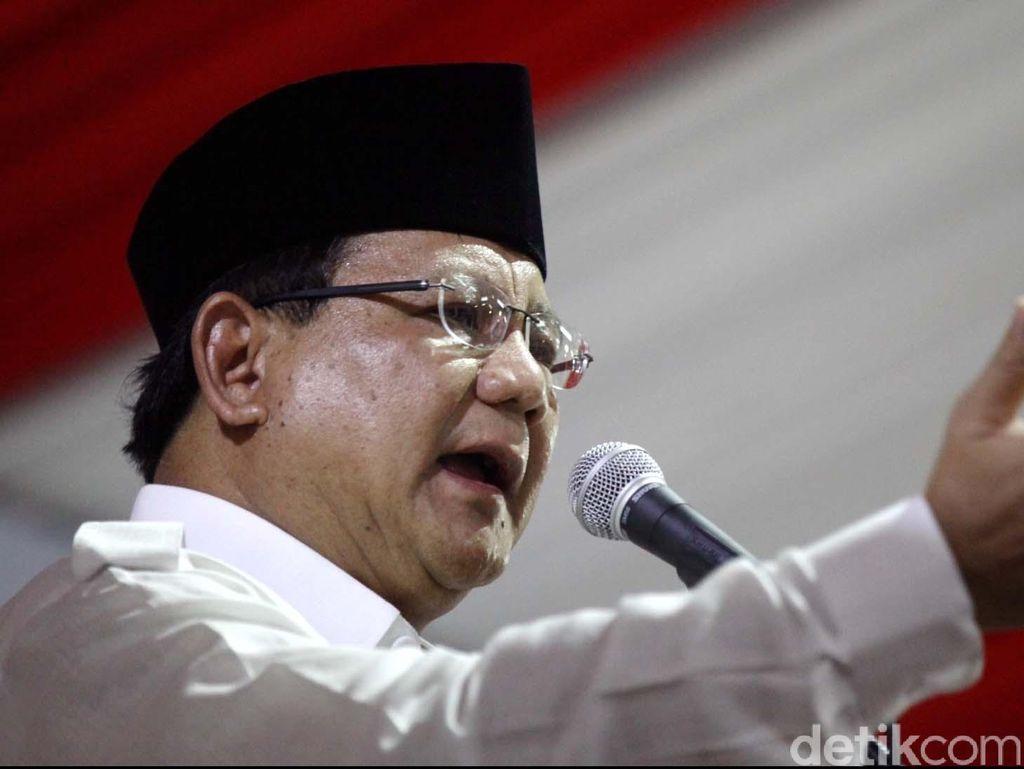 Cerita Prabowo Besarkan Gerindra Tanpa Uang yang Banyak
