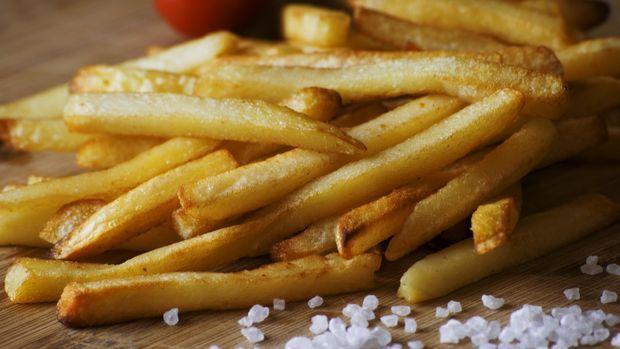 Ilustrasi hidangan kentang goreng