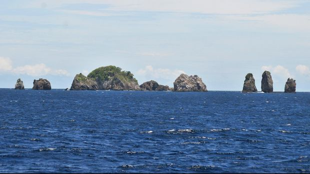 Pulau Rondo, wilayah terluar ujung barat Indonesia, Aceh, Kamis (21/5). Berkat Deklarasi Djuanda, wilayah Indonesia tak terpecah-pecah antar pulau dan teritorinya ditentukan dari pulau terluar.