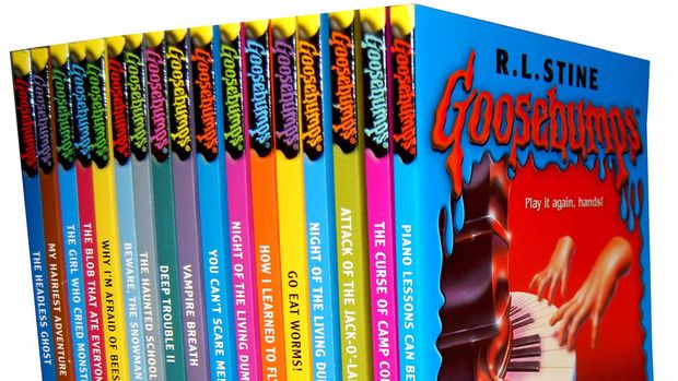 Deretan novel horor Goosebumps.