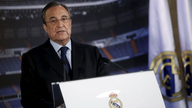 Presiden Real Madrid Florentino Perez kemungkinan tidak akan mengabulkan permintaan Sergio Ramoz batalkan klausul pelepasannya. (