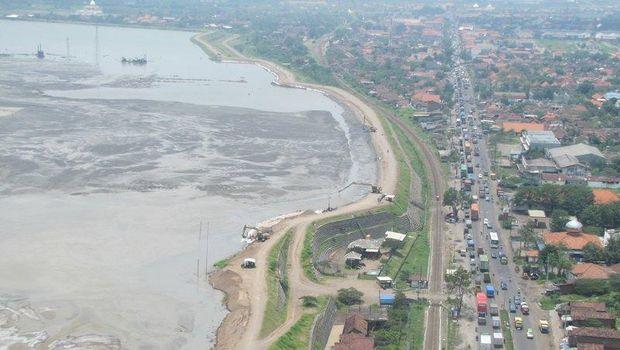 Lokasi bencana lumpur Lapindo.