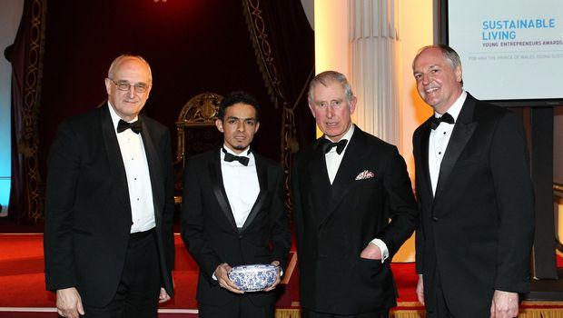 Gamal Albinsaid saat bertemu Pangeran Charles /