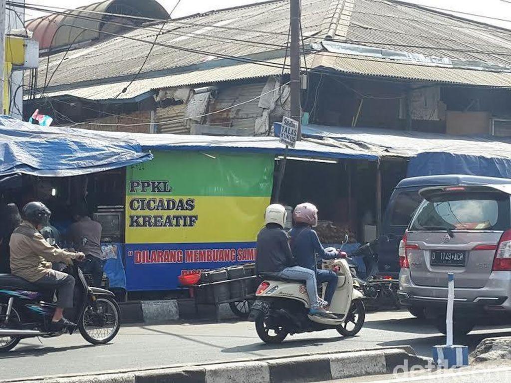 Akhir Jabatan Ridwan Kamil-Oded, PKL Cicadas Masih Belum Ditata
