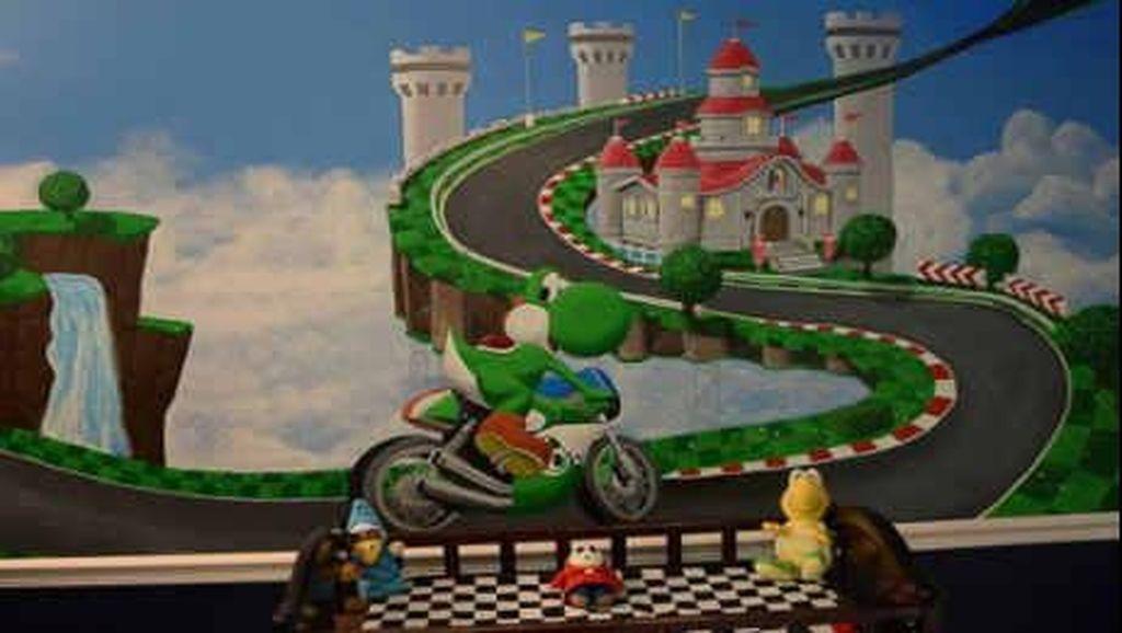 Wah Karakter Mario Bros Jalan-jalan di Kamar Lucu Milik Grant Ini