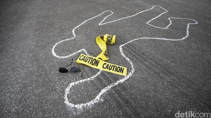 Ilustrasi: pembunuhan, mayat, bunuh diri, garis polisi, police line