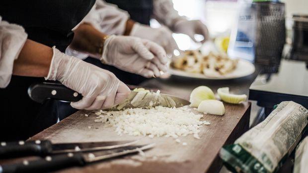 Ilustrasi Chef Memasak