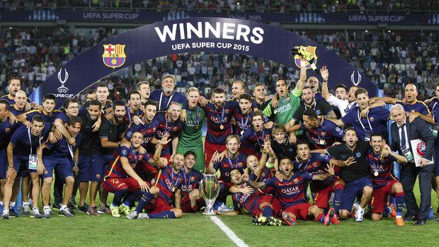 Lionel Messi baru delapan kali meraih trofi UEFA.