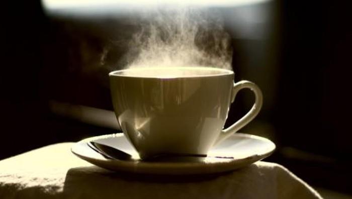 ilustrasi kopi dan minum kopi