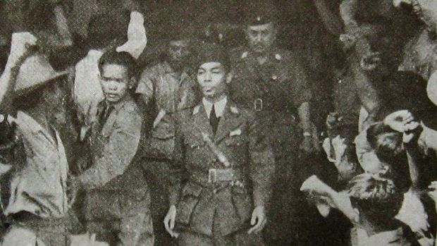 General Sudirman upon arrival in Jakarta. Other information According to the copyright law in effect in Indonesia at the time of the URAA, copyright on this image expired on 1 January 1971 (25 years after publication).