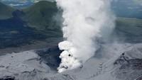 Gunung Aso Meletus, Langit Jepang Kelabu