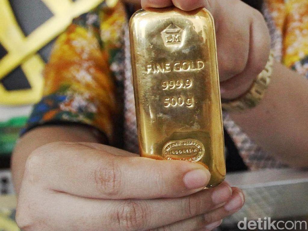Harga Emas Antam Naik Jadi Rp 600.000/Gram