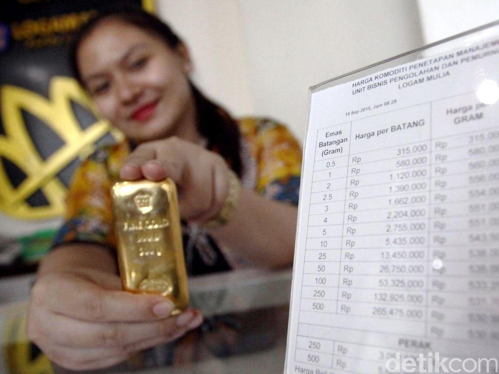 Naik Lagi, Harga Emas Antam Rp 619.000/Gram