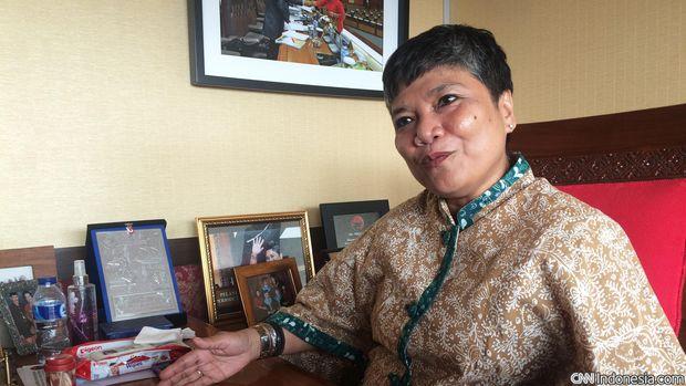 Anggota DPR RI dari Fraksi PDI perjungan Ribka Tjiptaning Proletariati yang juga anak anggota Biro Khusus PKI Raden Mas Soeripto Tjondro Saputro.