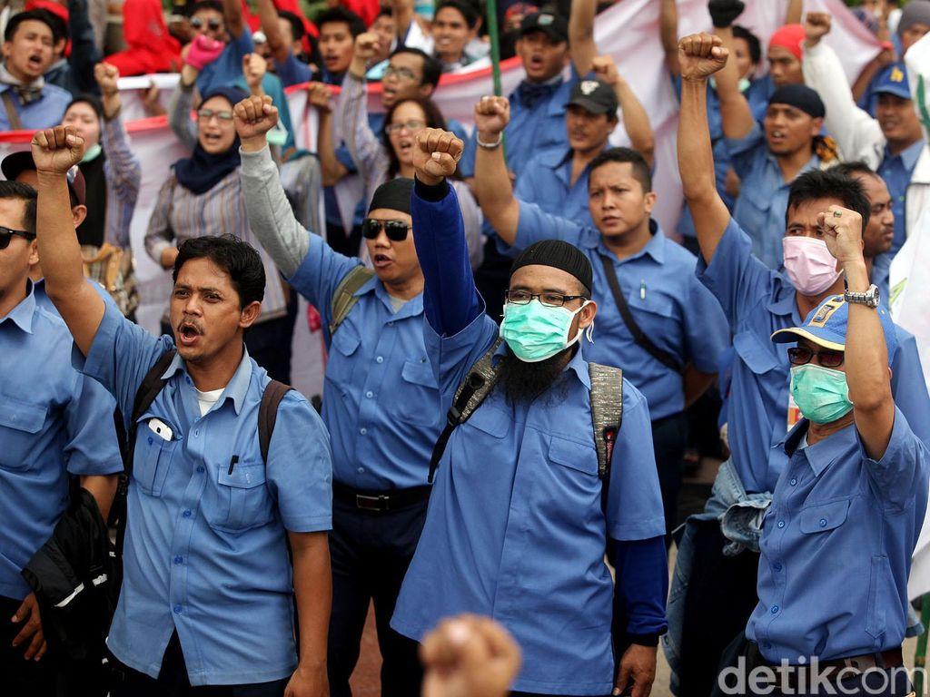 Buruh Lanjutkan Mogok Kerja Nasional Hari Kedua