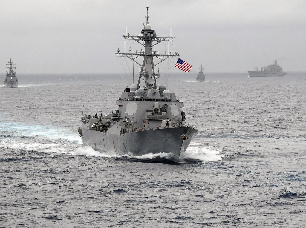 Kapal Perang AS dan Jepang Latihan di Laut China, Ada Apa?
