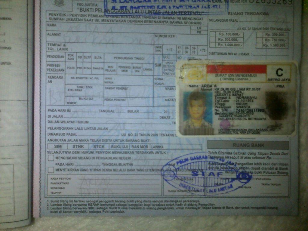 Tebus SIM Bukti Tilang Lebih Murah daripada Bikin SIM Baru