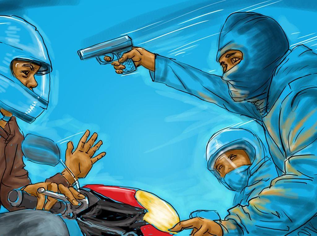 Polisi Buru 5 Pelaku Percobaan Begal Modus Cabut Kunci di Gandaria