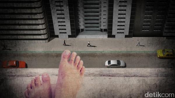 Ilustrasi bunuh diri dari atas gedung