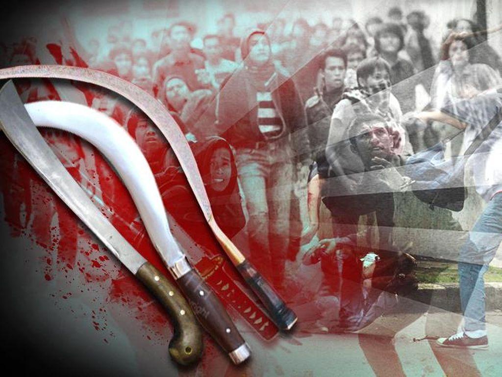 Polisi Tetapkan 2 Orang Bawa Sajam di Bentrok FBR-PP Jadi Tersangka