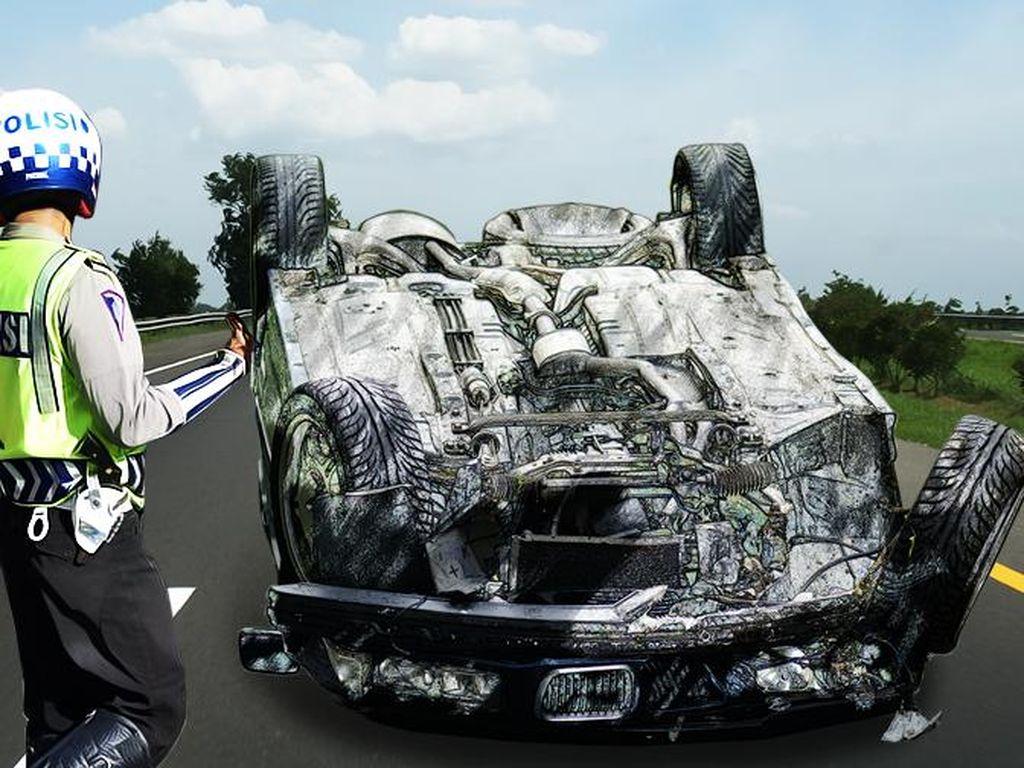Kendaraan Rusak Berat, 6 Orang Terluka Akibat Kecelakaan di Tol Cipali
